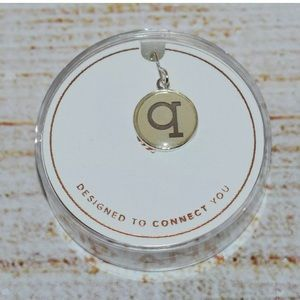 New Alex and Ani Silver Letter q Necklace Charm